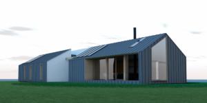 Steel house 01 Zijgevel 01